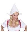 Boerinnen hoofdkapje wit voor dames