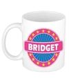 Bridget naam koffie mok beker 300 ml