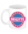 Brigitte naam koffie mok beker 300 ml