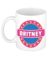 Britney naam koffie mok beker 300 ml