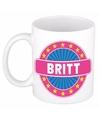 Britt naam koffie mok beker 300 ml