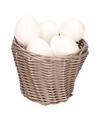 Bruin paasmandje met plastic eieren 14cm