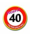 Button voor de 40 jarige