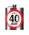 Cadeau 40 jaar drankflesje 200 ml