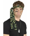 Lange hoofdband met legerprint