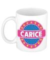 Carice naam koffie mok beker 300 ml
