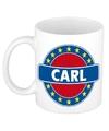 Carl naam koffie mok beker 300 ml