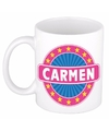 Carmen naam koffie mok beker 300 ml