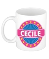 Cecile naam koffie mok beker 300 ml