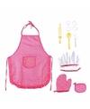 Chefkok speelset roze 11 delig voor meisjes