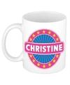 Christine naam koffie mok beker 300 ml