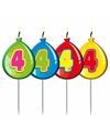 Cijferkaars 4 jaar geel