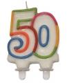 Cijfer kaars van 50 jaar