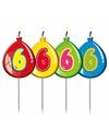 Cijferkaars 6 jaar geel