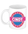 Cindy naam koffie mok beker 300 ml