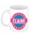 Claire naam koffie mok beker 300 ml