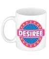 Desiree naam koffie mok beker 300 ml