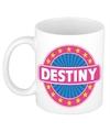 Destiny naam koffie mok beker 300 ml