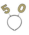Diadeem met glitters 50 jaar
