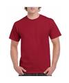 Donker rode team shirts voor volwassen