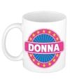 Donna naam koffie mok beker 300 ml