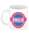 Emilie naam koffie mok beker 300 ml