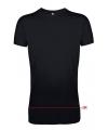 Long fit heren t-shirts zwart