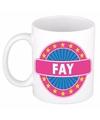 Fay naam koffie mok beker 300 ml
