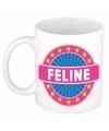 Feline naam koffie mok beker 300 ml