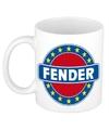 Fender naam koffie mok beker 300 ml