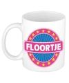 Floortje naam koffie mok beker 300 ml