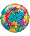 Folie ballon 60 jaar 45 cm