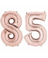 85 jaar versiering cijfer ballon rose goud