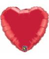 Bruiloft rode hartjes folie ballon 45 cm
