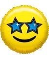 Folie ballon ster smiley 45 cm