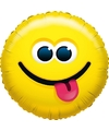 Folie ballon tong uitsteken smiley 45 cm