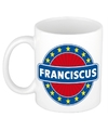 Franciscus naam koffie mok beker 300 ml