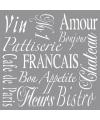 Sierlijke Franse teksten schilderen