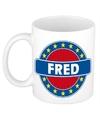 Fred naam koffie mok beker 300 ml