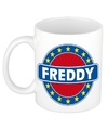 Freddy naam koffie mok beker 300 ml