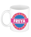 Freya naam koffie mok beker 300 ml