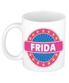 Frida naam koffie mok beker 300 ml