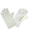 Gebroken witte satijnen king of pop handschoenen voor kinderen