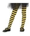Geel zwart gestreepte panty 15 denier voor meisjes