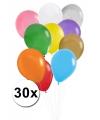 Feest ballonnen gekleurd 30x