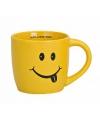 Gele koffie beker met smiley type 1