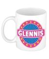 Glennis naam koffie mok beker 300 ml