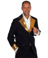 Zwart / goud glitter kostuum heren