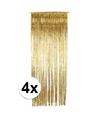 Gouden deurgordijnen 244 cm 4 stuks