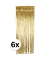 Gouden deurgordijnen 244 cm 6 stuks